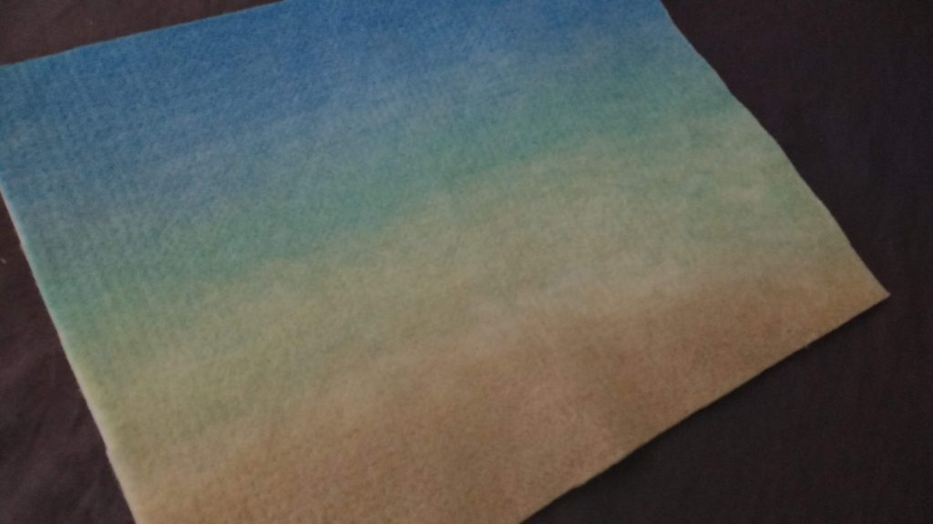 Medium Multi-Dyed Felted Mat Image