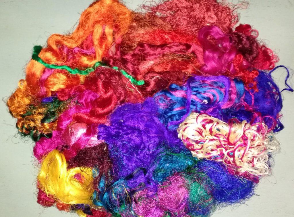 Sari Silk Fibres Image