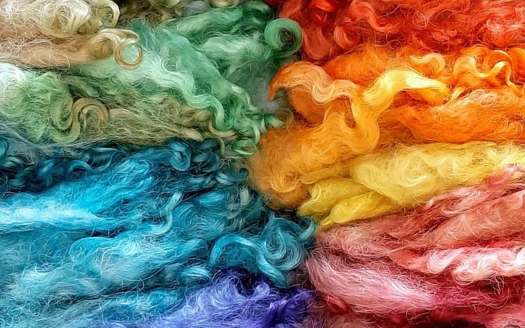 Hand Dyed Lincoln Locks